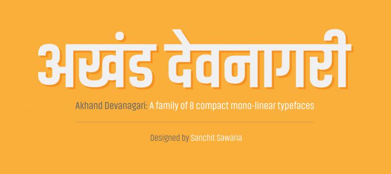 Akhand Devanagari Styles