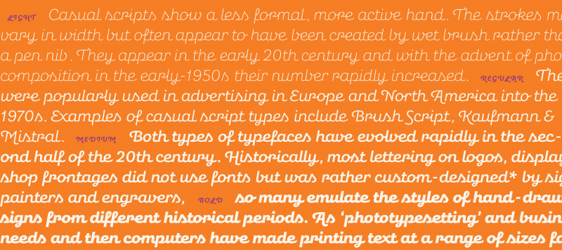tidy script compare indian type foundry