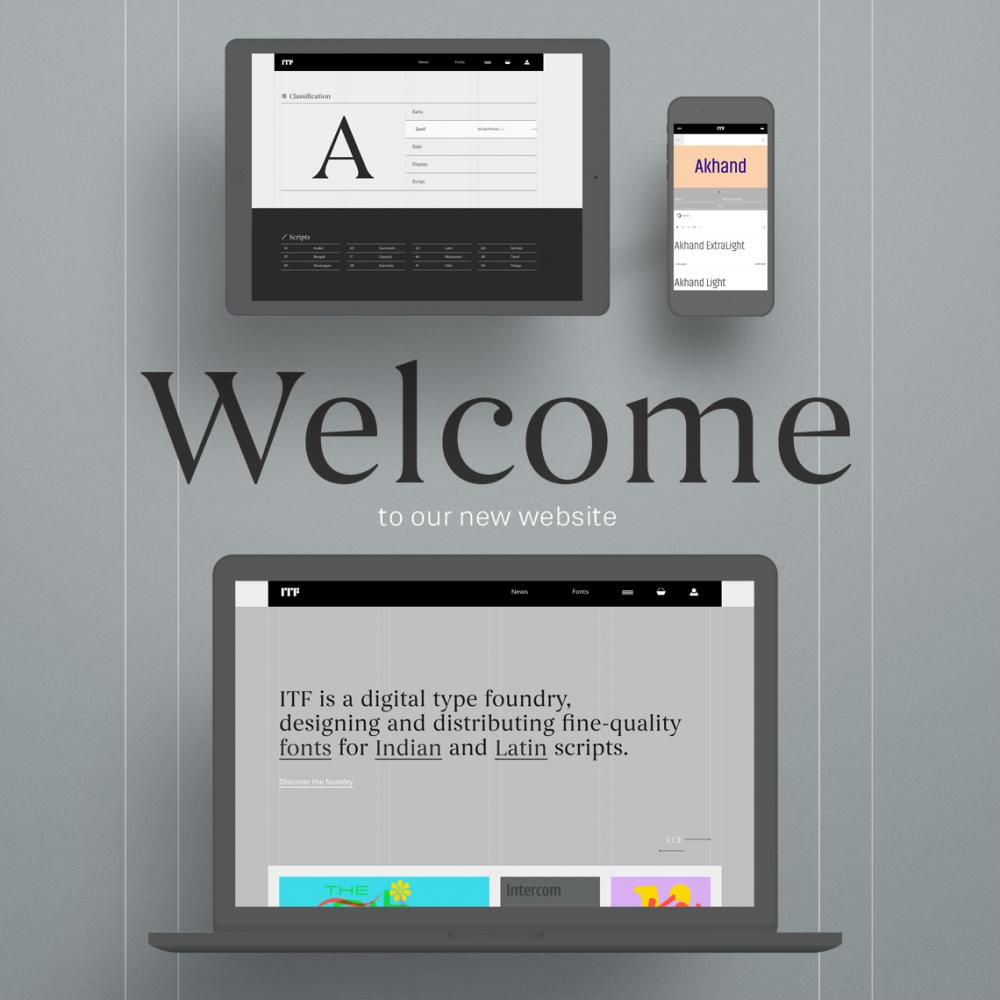 Welcome to our New Website!   Indian Type Foundry